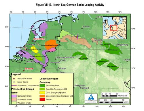 Schaliegas in Duitsland