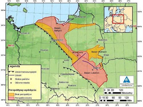 Schaliegas in Polen