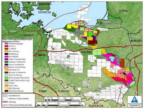 Detail schaliegas in Polen