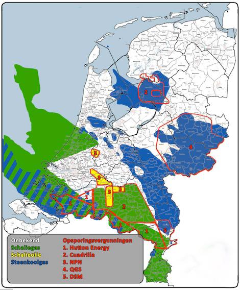 Gaskaart Nederland met gemeentegrenzen