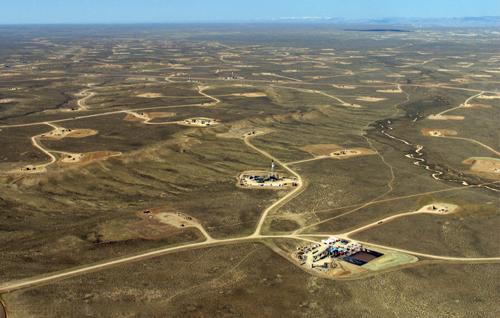 Het Jonah schaliegasveld in de VS