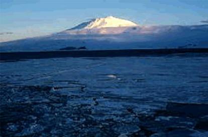 Vulkaan op Antarctica