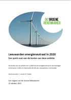 Leeuwarden energieneutraal in 2020