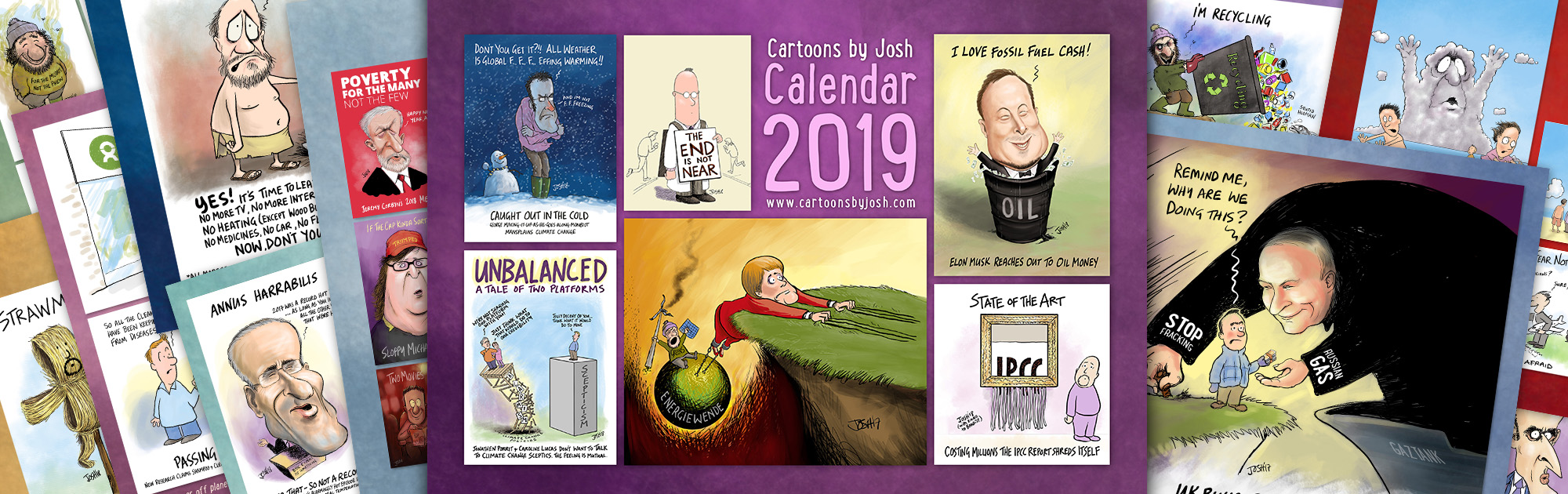 Cartoon kalender 2019