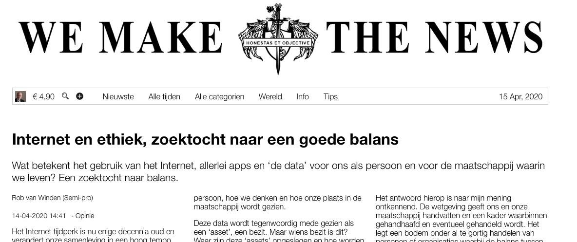 """journalistiek platform De Groene Rekenkamer Manipulatie van zienswijzen en ideeën is een markt op zich en leidt zelfs tot """"gratis nieuws"""""""