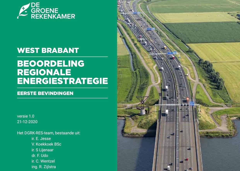 voorpagina Quickscan rapport West Brabant